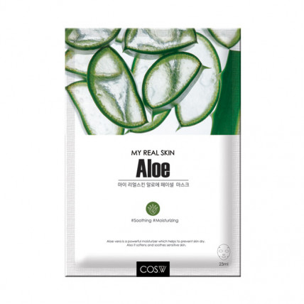 Тканевая маска с алое COS.W My Real Skin Aloe Facial Mask
