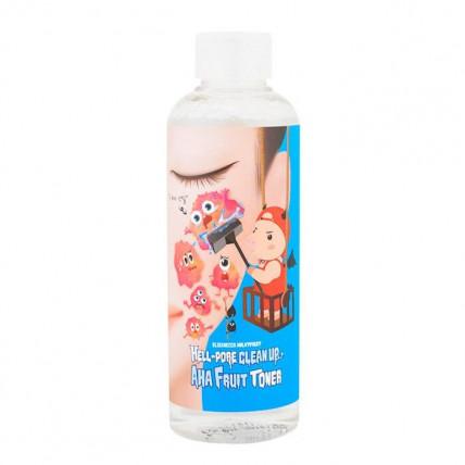 Тонер - пилинг с фруктовыми кислотами Elizavecca Hell-Pore Clean Up Aha Fruit Toner