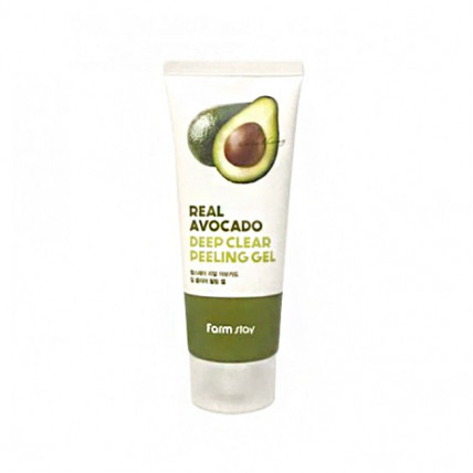 Пилинг-скатка с маслом авокадо Farm Stay Real Avocado Deep Clear Peeling Gel