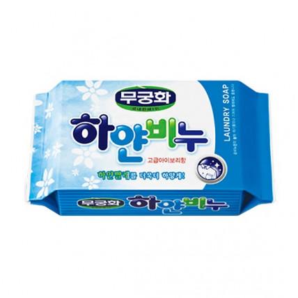 Отбеливающее хозяйственное мыло для стирки взрослого и детского белого белья Mukunghwa Laundry Soap