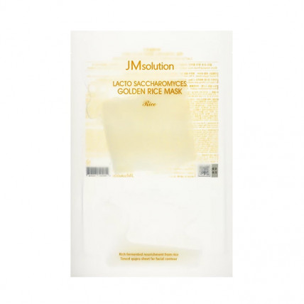 Маска для выравнивания тона с лактобактериями JMsolution Lacto Saccharomyces Golden Rice Mask