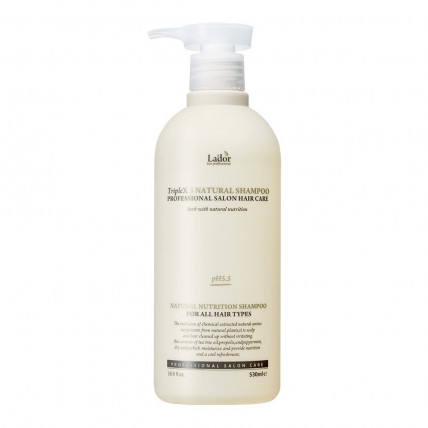 Бессульфатный органический шампунь с эфирными маслами Lador Triplex Natural Shampoo 530 ml