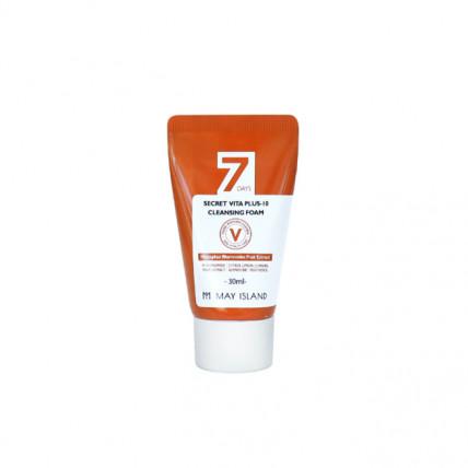 Очищающая пенка для сияния кожи с экстрактом облепихи May Island 7Days Secret Vita Plus-10 Cleansing Foam