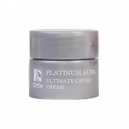 Антивозрастной питательный крем с икрой и платиной миниатюра Ottie Platinum Aura Ultimate Caviar Cream