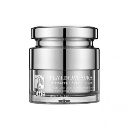 Антивозрастной питательный крем с икрой и платиной Ottie Platinum Aura Ultimate Caviar Cream