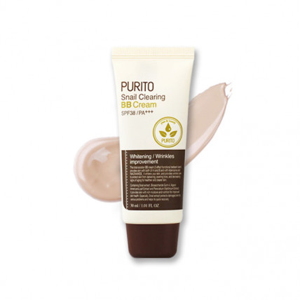 BB крем с муцином улитки  Purito Snail Clearing BB Cream SPF38 PA+++