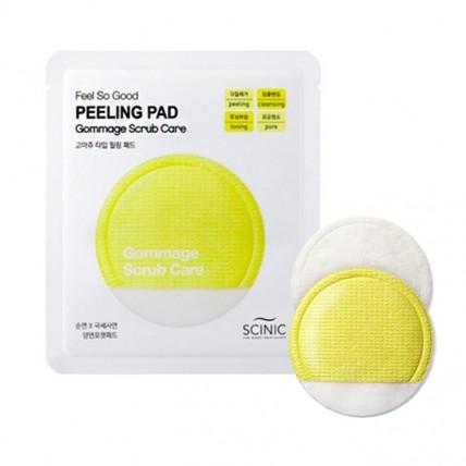 Скраб-спонж с молочной кислотой и AHA-кислотой Scinic Feel So Good Scrub Pad Gommage Scrub Care
