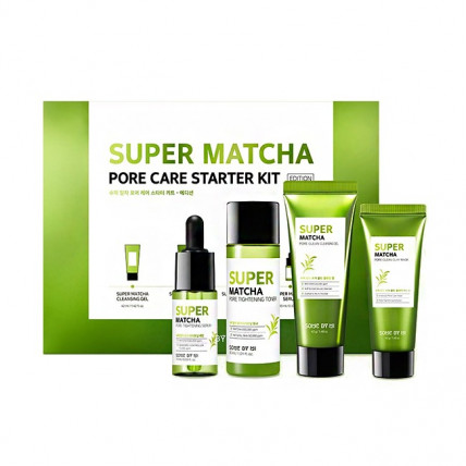 Набор миниатюр для сужения пор с чаем матча Some By Mi Super Matcha Pore Care Starter Kit
